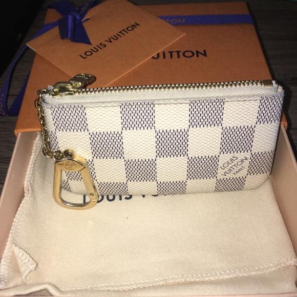 c103c060d72 Louis Vuitton Accessories - Louis Vuitton key pouch in damier azur